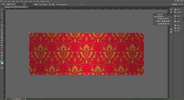 Wallpaper image in Adobe Photoshop