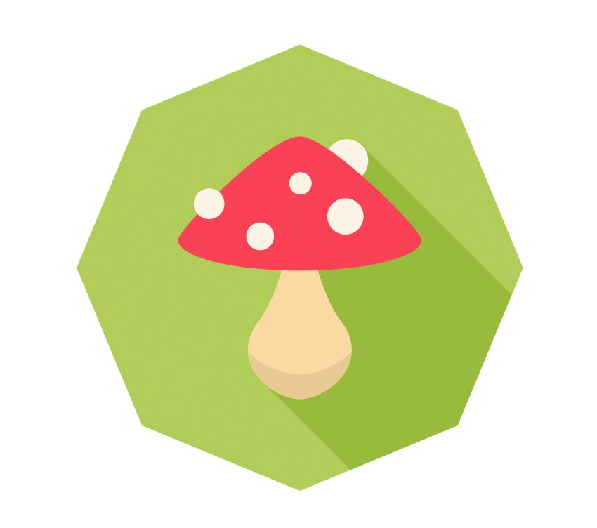 Finish up with our mushroom icon