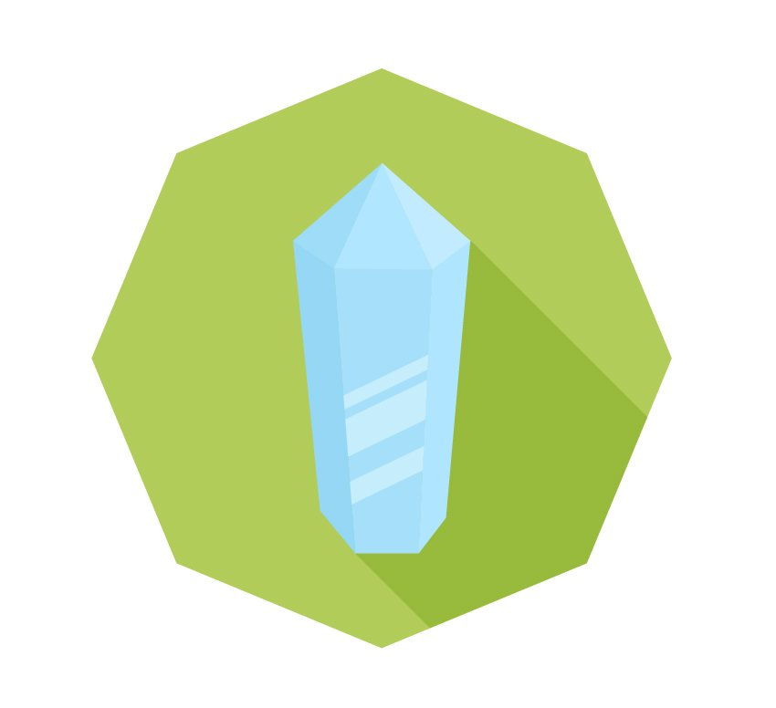 Finish up with our crystal icon