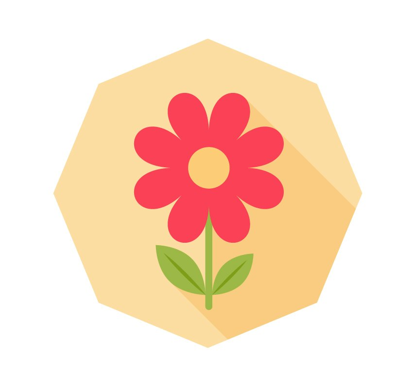 Finish up with our flower icon