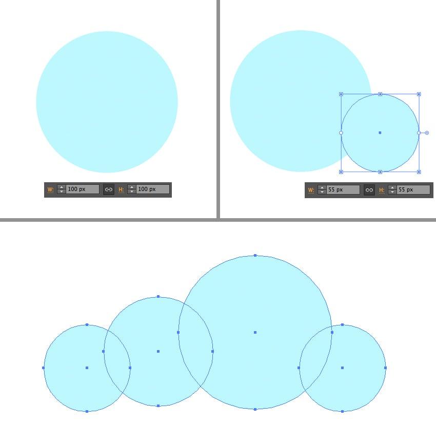 make a cloud from circles