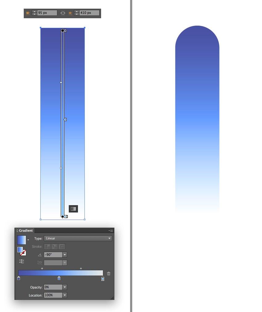 make a vertical peak