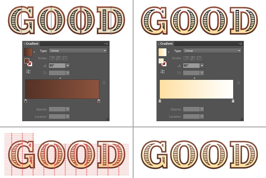 work on the colors to make the letters more dimensional