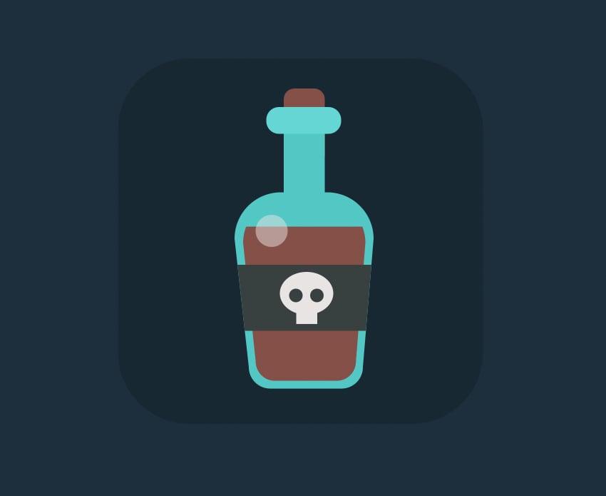 rum bottle icon is ready