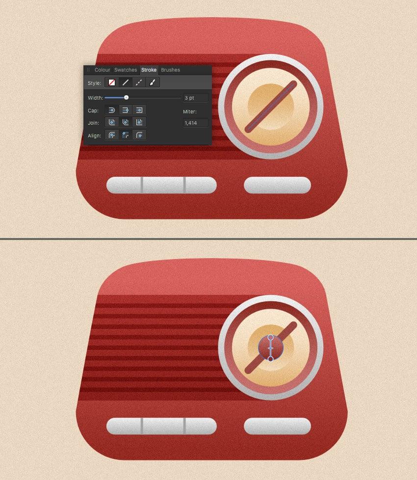 add a big round switcher to our radio 2