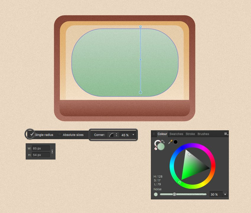 make a screen from rounded rectangle
