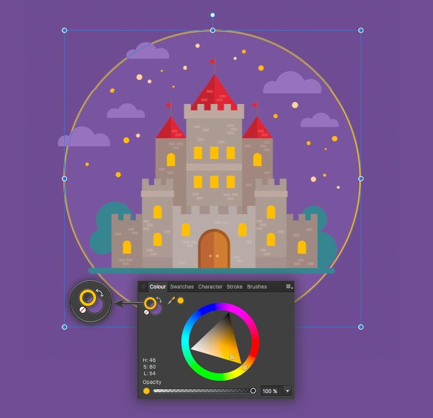 affinity designer toggle colors