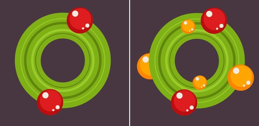 make a festive wreath 3