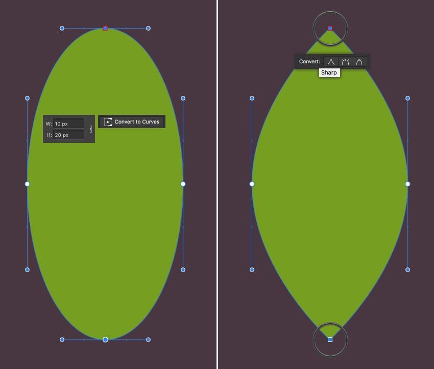make a leaf from ellipse 1