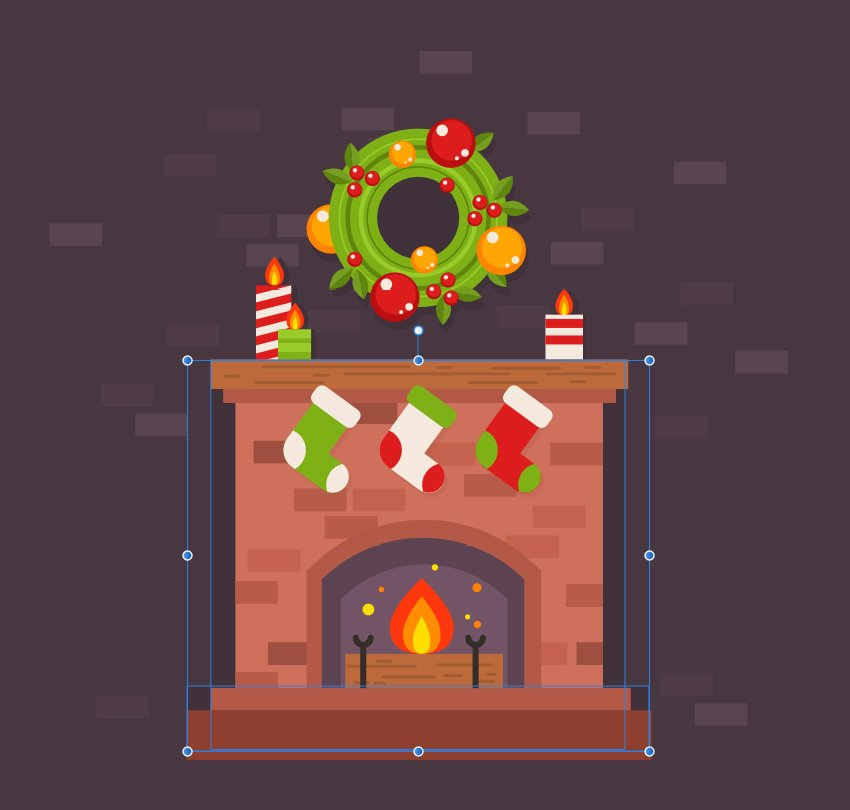 add some bricks around the fireplace