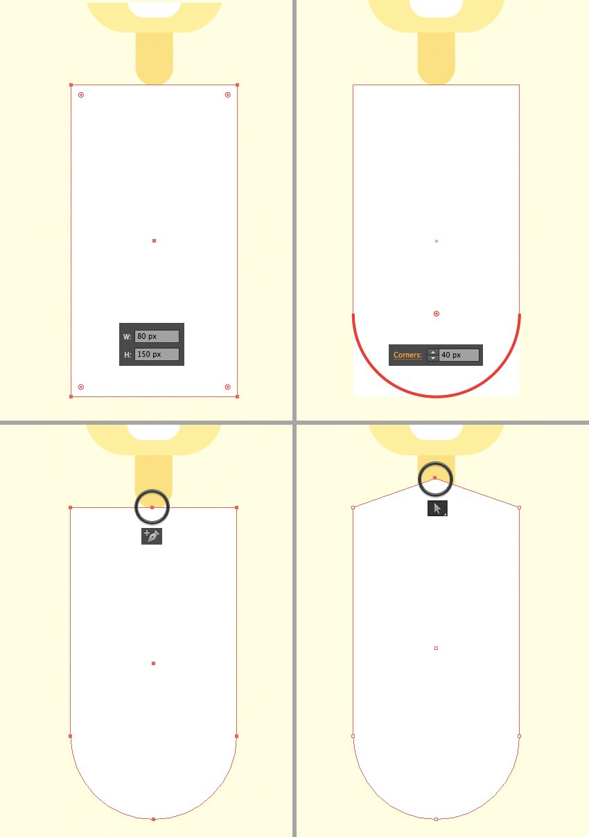 make a white shirt from rectangle