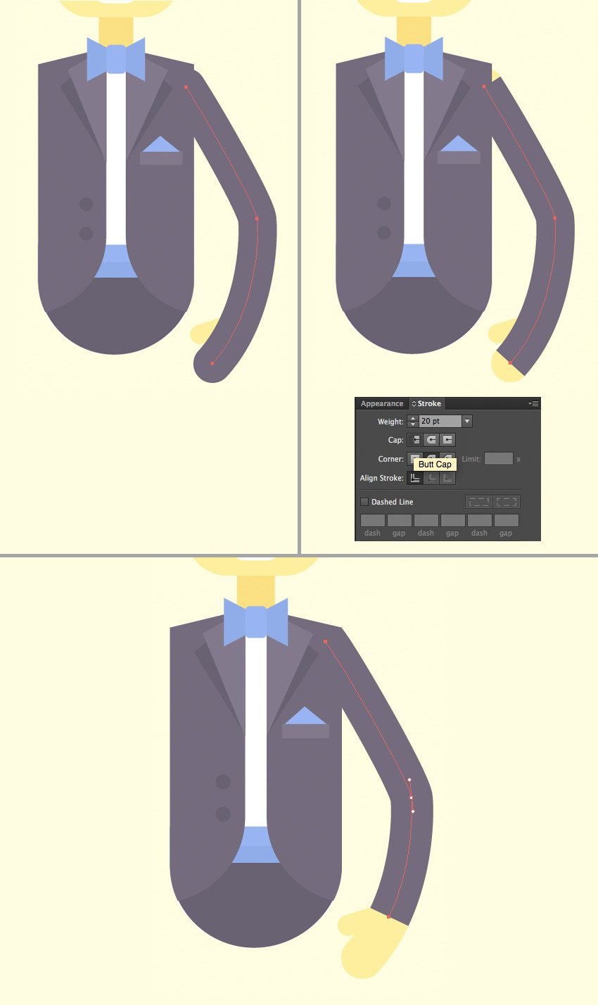 add a sleeve of the jacket
