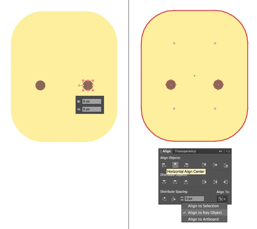 make the eyes with the ellipse tool