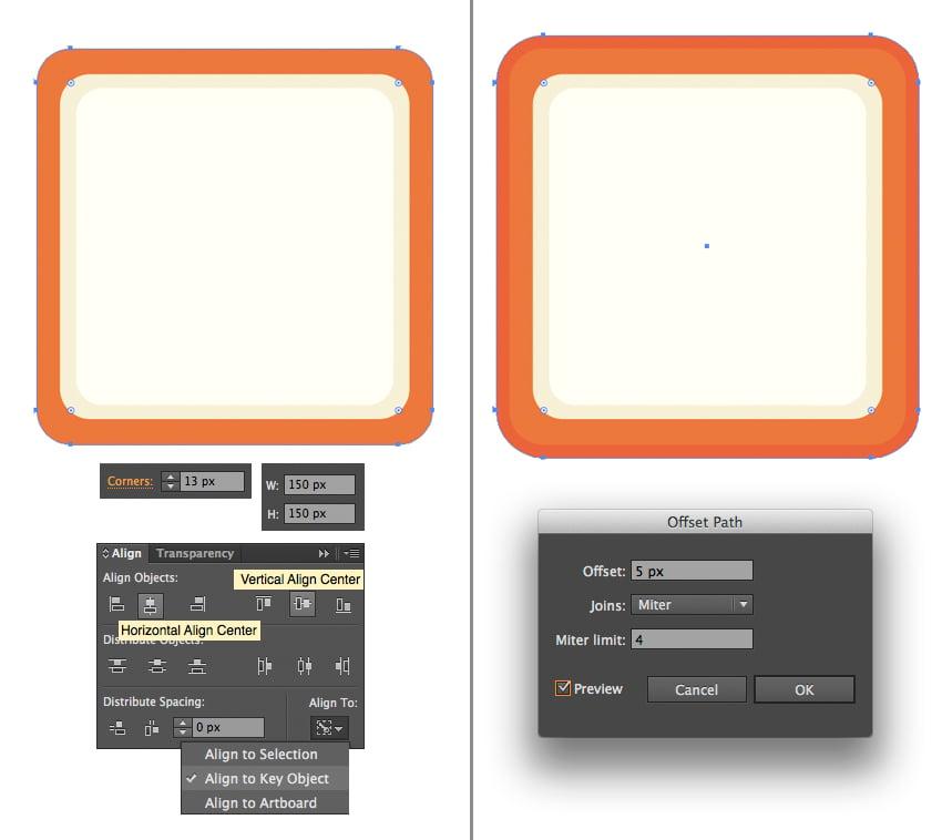 create a bright orange rectangular case