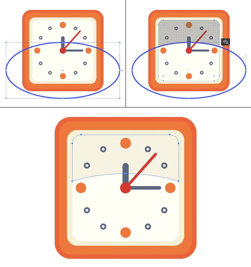 add reflection to the clock face