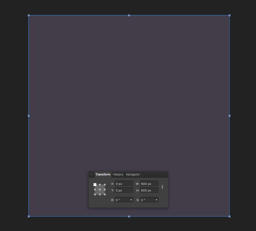 Create a 600x600 px document