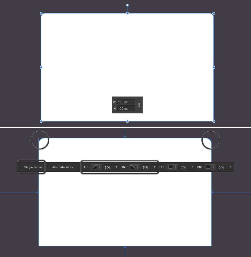 make the laptop display from rectangle 1
