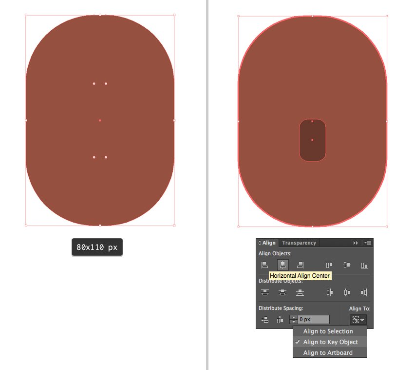 creating a face from a rounded rectangle