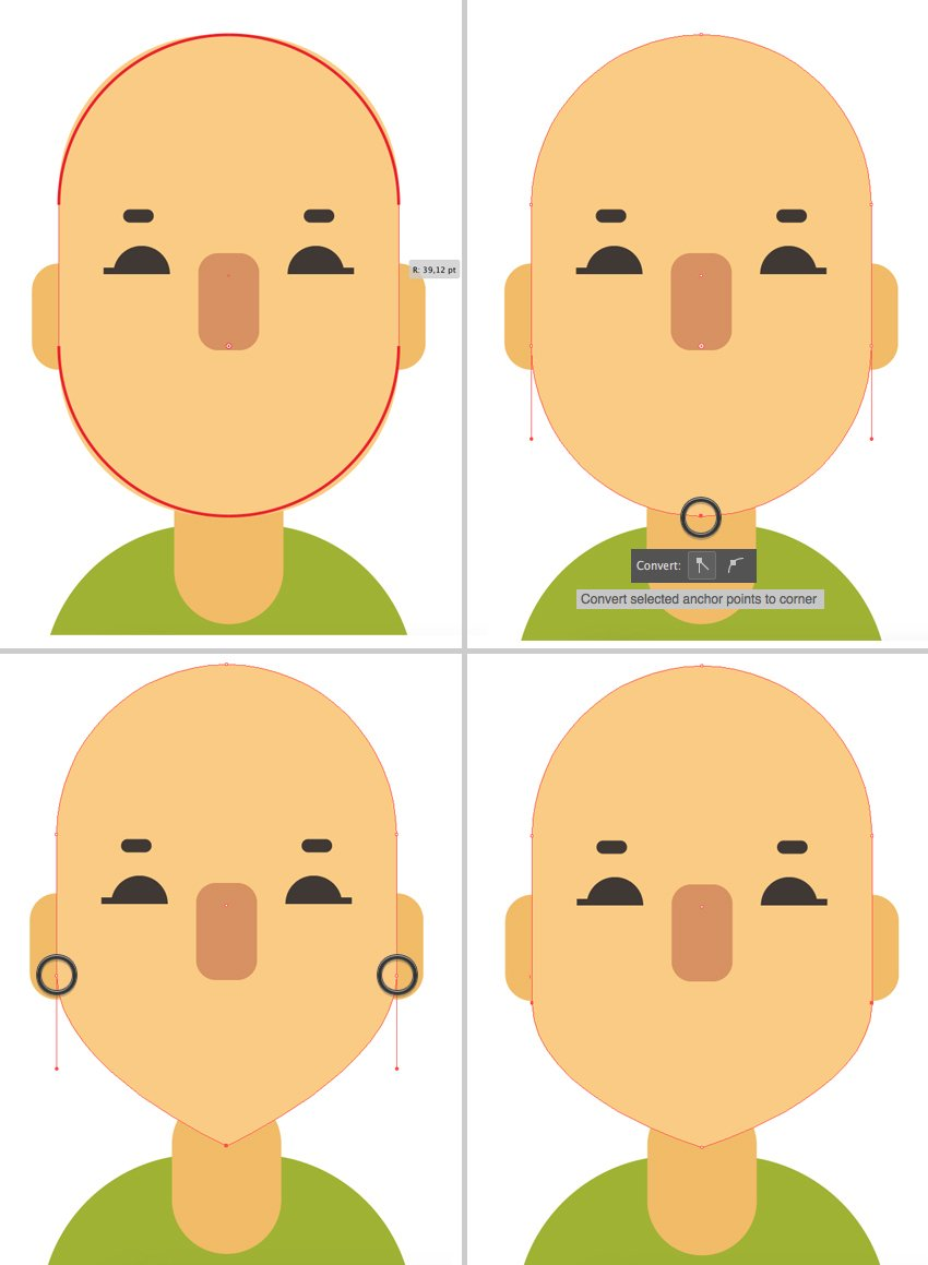 change the shape of the face