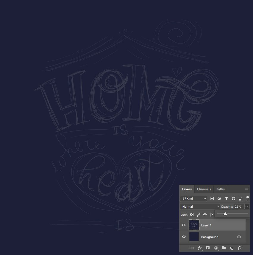 place sketch into photoshop
