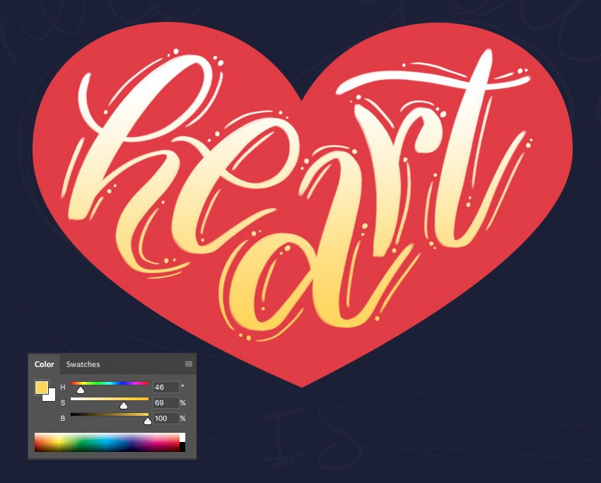 apply gradient to the lettering