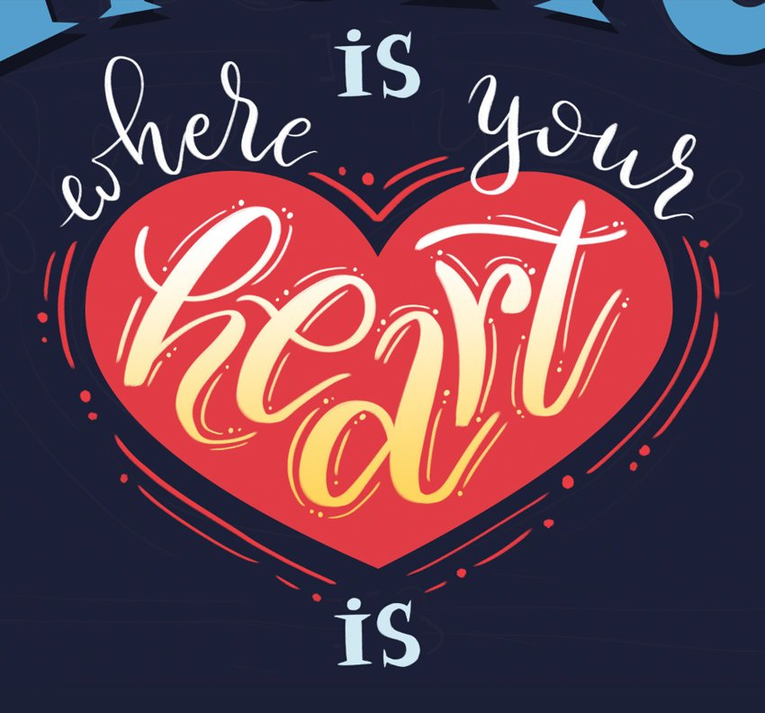 ad minor decorative details around the heart