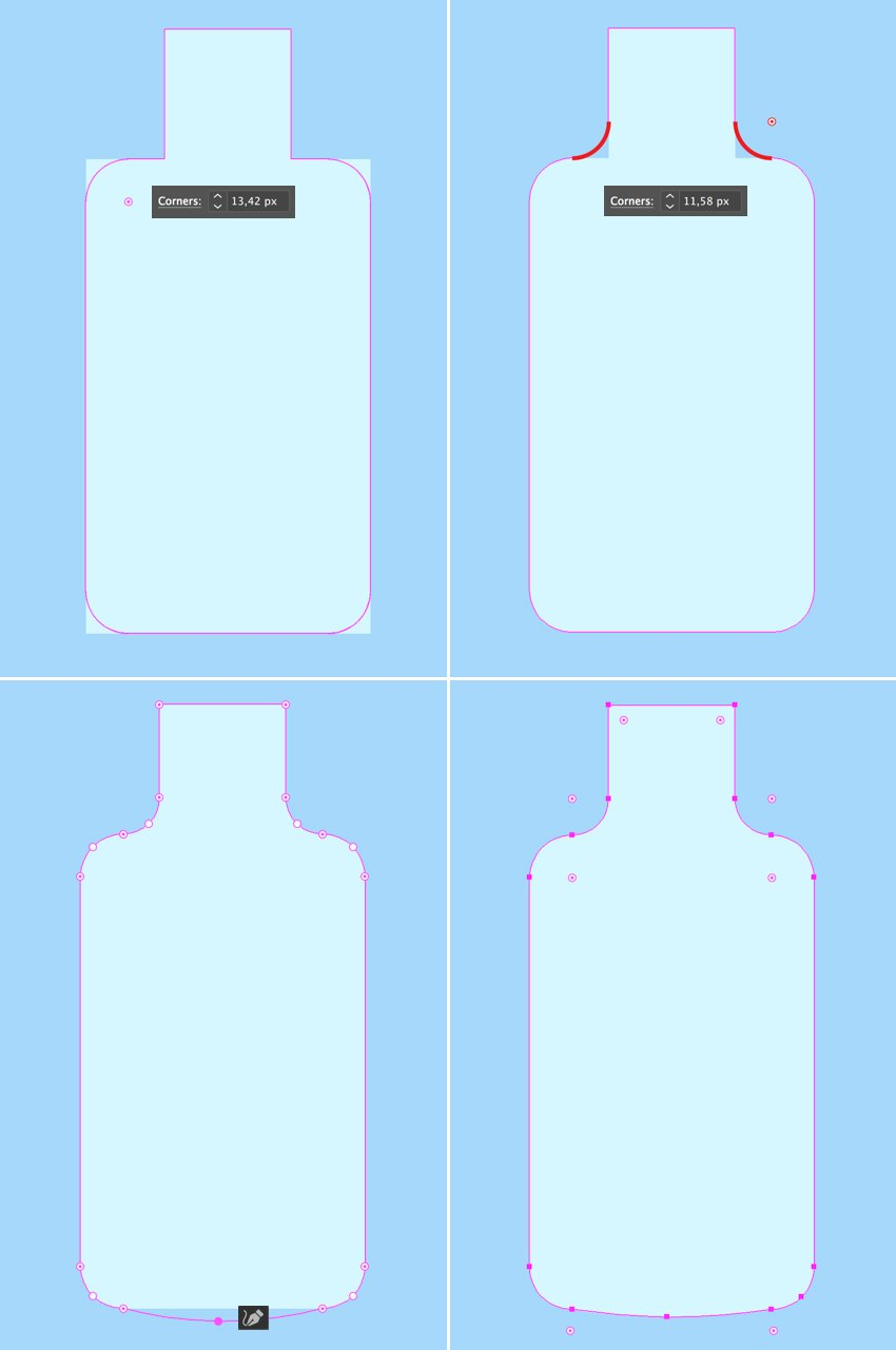 make the bottle smooth and rounded