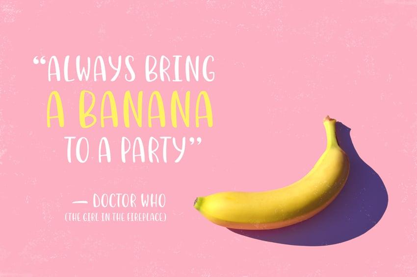 using the bananito font