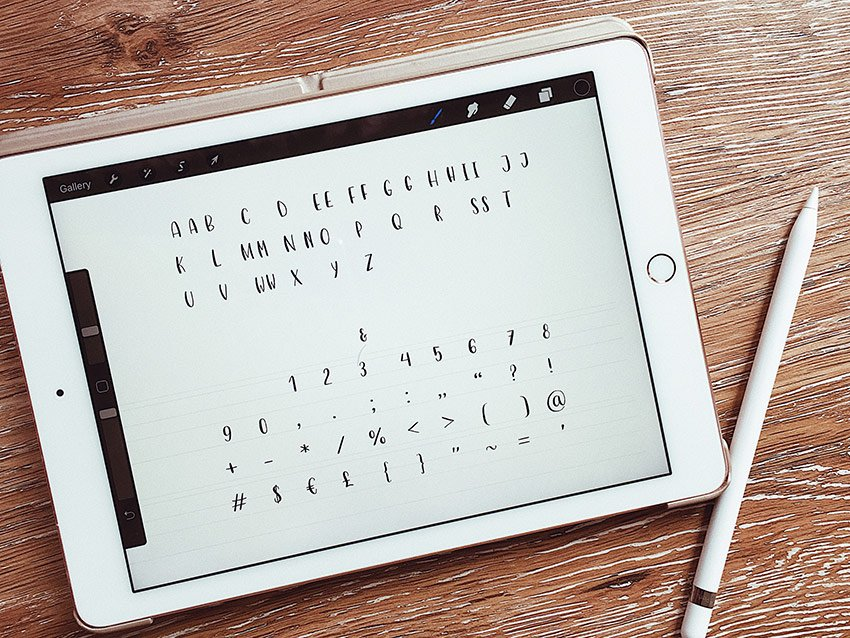 drawing letters digitally