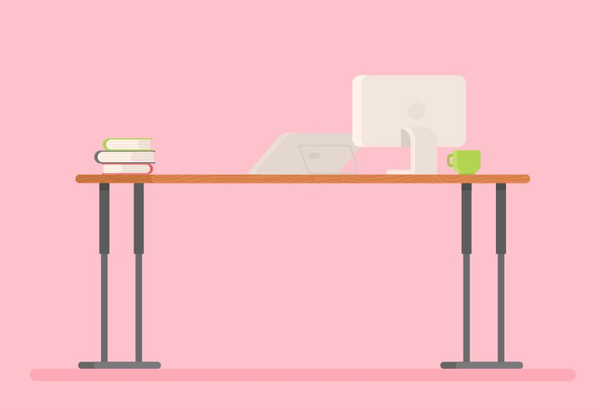 place objects on the desk