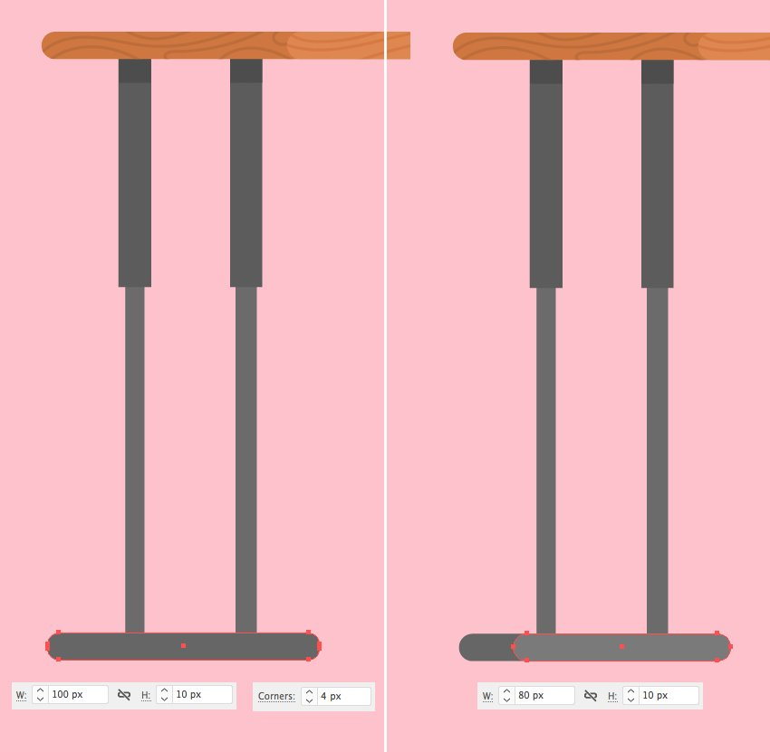 create table legs from rectangles 2