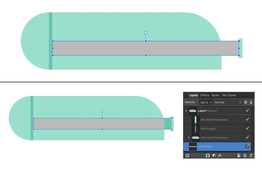adjust the width of the rectangle