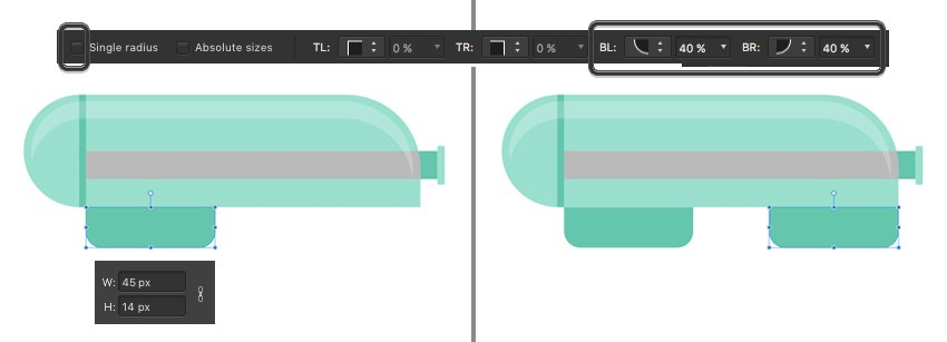 add rounded rectangles