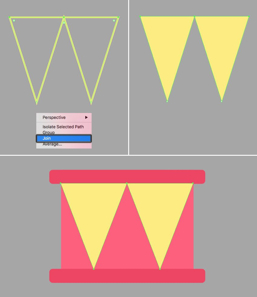 add triangles to the drum