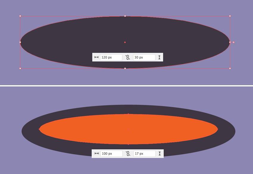 make two ellipses