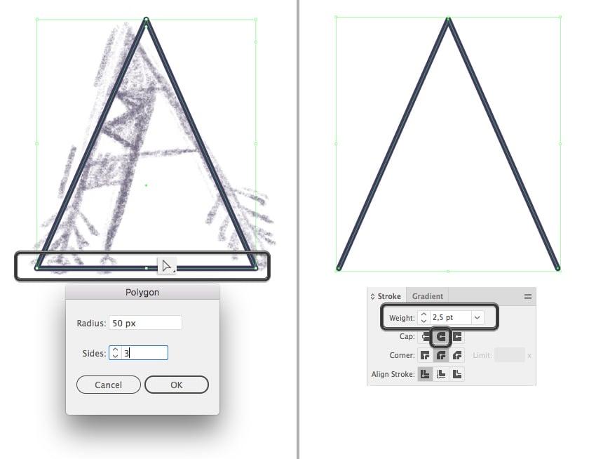 use the polygon tool