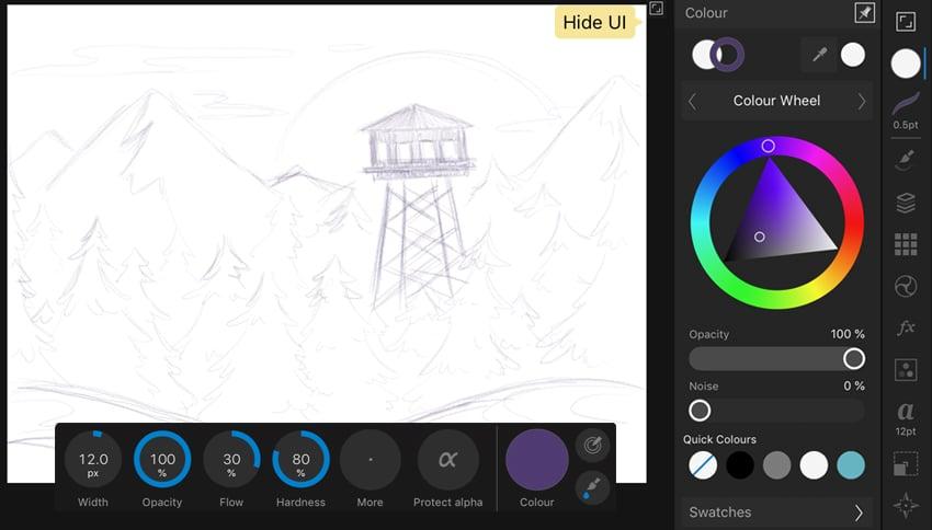 draw a sketch in affinity designer ipad