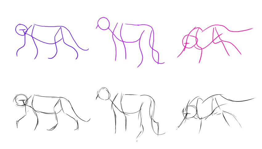 how to start a drawing using gestures