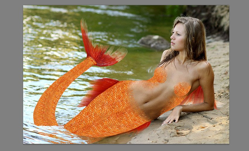 how to make fins transparent in photoshop