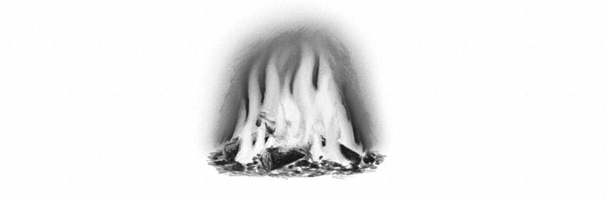 how to draw a realistic campfire with pencils