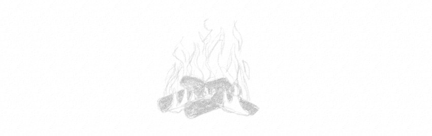 how to sketch flames