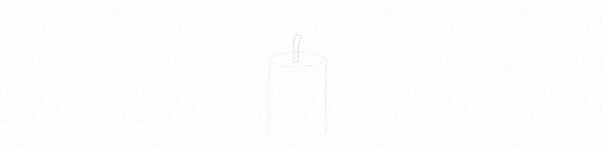 how to start drawing a candle