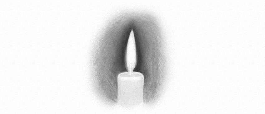 how to shade a candle