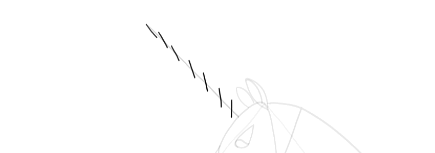 how to draw a unicorn horn