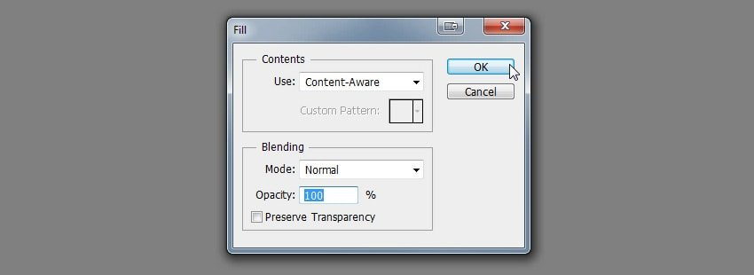 how to use content aware tool