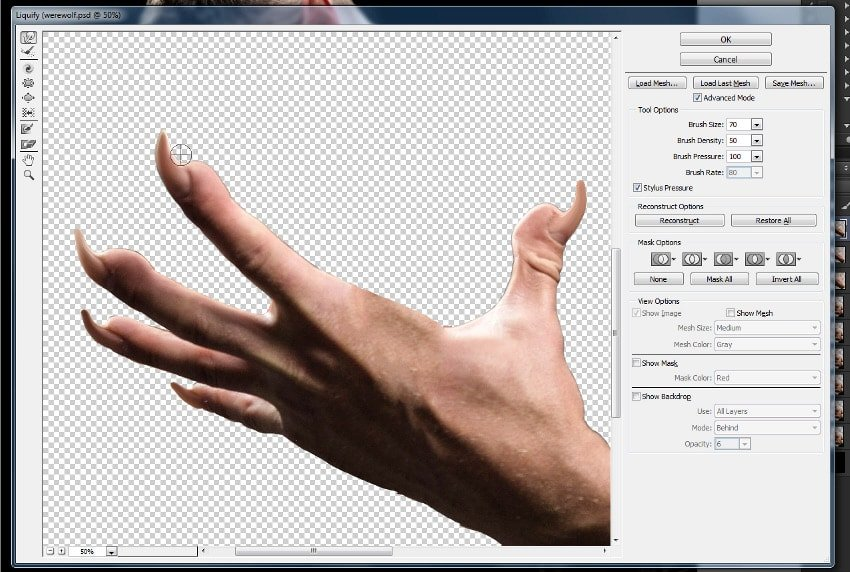 how to add claws to human hands in photoshop