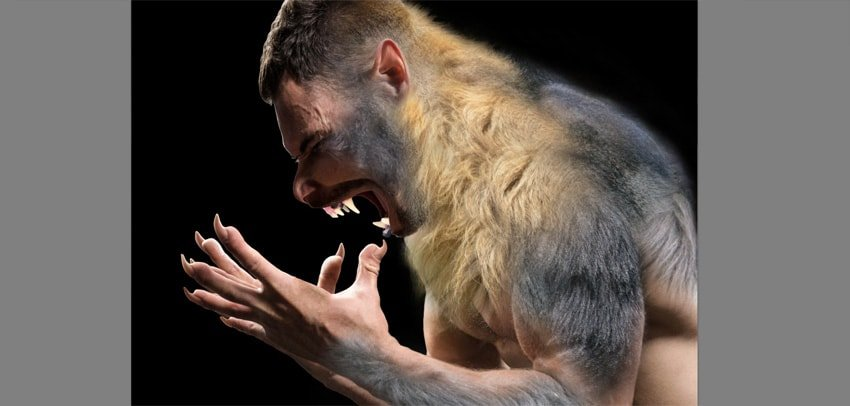 how to cover human with fur in photoshop