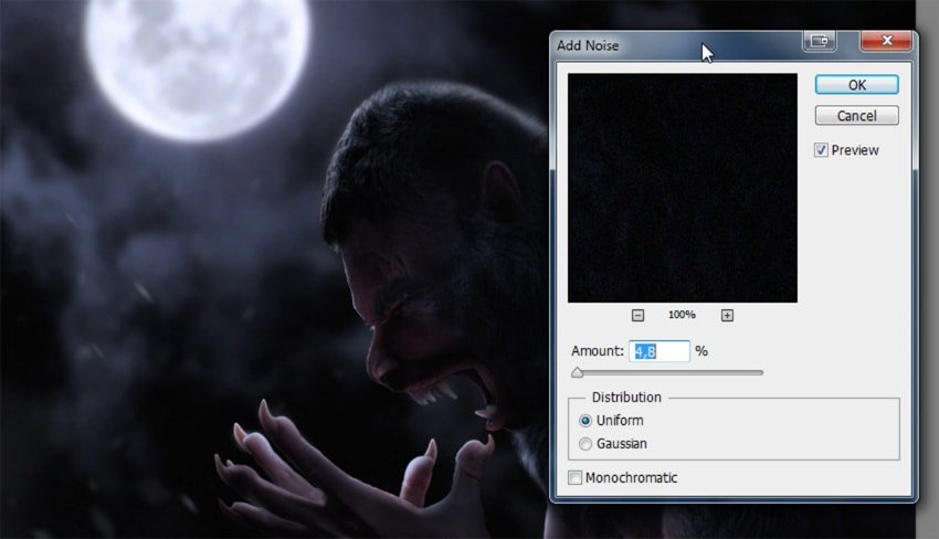 how to add noise to photo manipulation