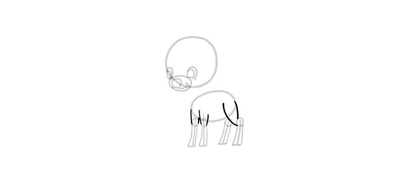 chibi deer upper legs