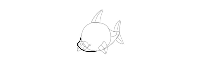 chibi shark muzzle sharp